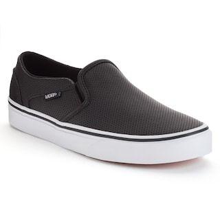 black slip on vans kohls