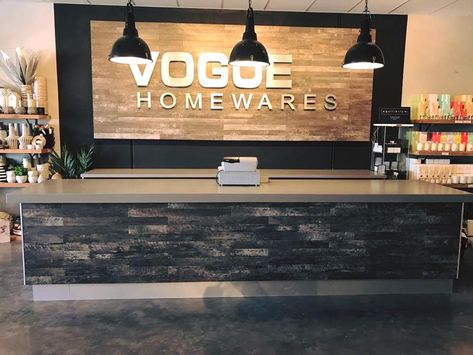 No One Said That Vinyl Was Limited To Floors Check Out This Awesome Counter And Sign Covered With Vinyl Supplied By Macart With Images Flooring Blinds Homeware