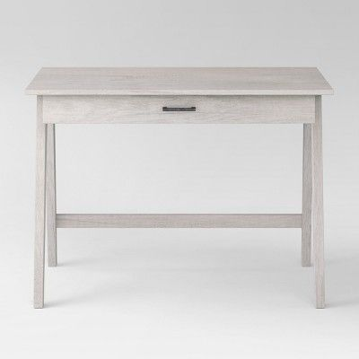 Paulo Wood Writing Desk With Drawer White Wash Project 62 Writing Desk With Drawers Desk With Drawers Wood Writing Desk