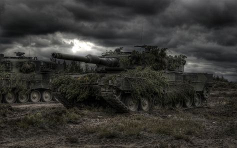 Download Wallpapers Leopard 2a4 German Tanks Modern
