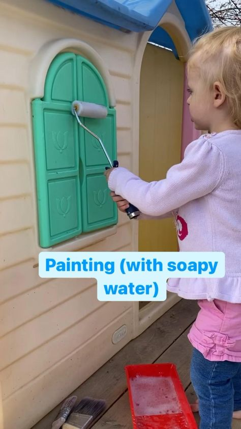Summer Toddler Painting (with soapy water)