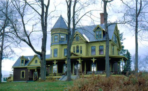 Queen Anne Style Architecture Trebor Mansion Maine Mansions