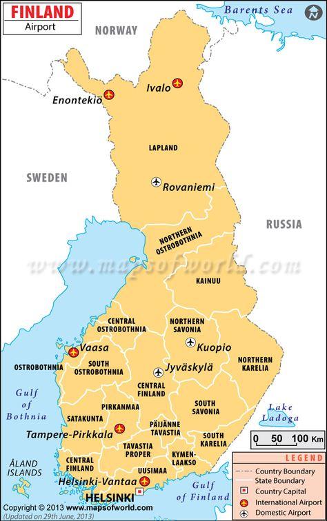 Finland Kartta Kittila Maisema