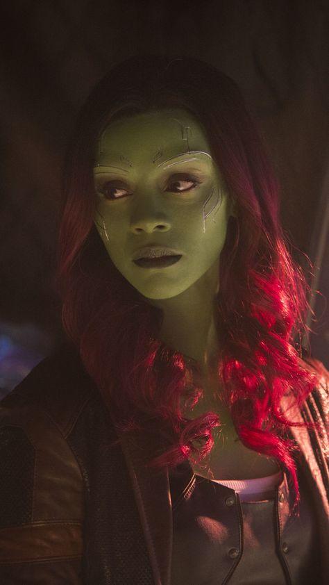 Gamora, Zoe Saldana, celebrity, Avengers: Infinity War, movie, 2018, 720x1280 wallpaper