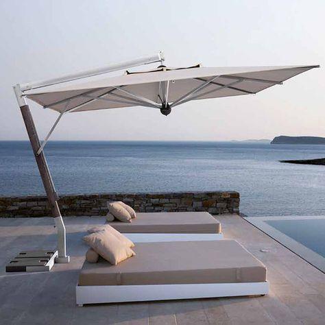 Parasol bois/alu.   Extérieur Terrasse Patio   Parasol ...