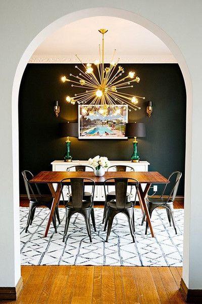 Celestial Light Fixtures Mid Century Modern Dining Room Mid Century Dining Room Dining Room Small