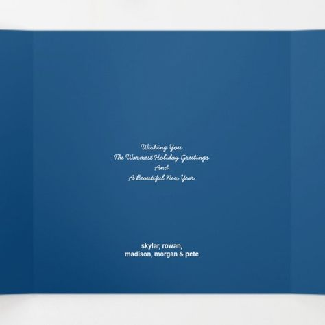 Snowflake Blue Opal Happy Christmas 4 Photo Tri Fold Holiday Card Zazzle Com In 2020 Folded Holiday Cards Holiday Card Template Holiday Cards