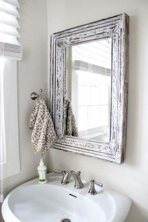 Specchio Con Cornice Per Bagno.Specchio Per Bagno Con Cornice Bathroom Bagno Piccolo