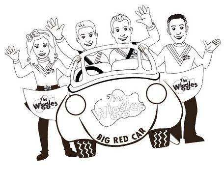 Perfect Wiggles Coloring Sheet For Little Kids 4 Yers And Up Wiggles Birthday Wiggles Party Wiggle