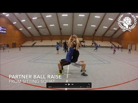 Handball warmup - Partner physical exercises (without ball) - YouTube