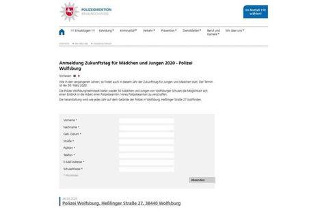 Wolfsburg Zukunftstag 2020 Bei Der Polizei Wolfsburg In 2020