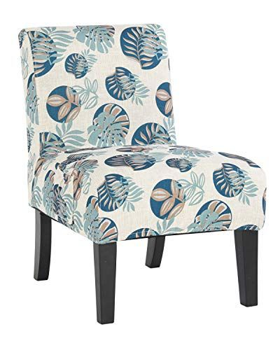 Altrobene Armless Fabric Patterned Accent Chair With Modern