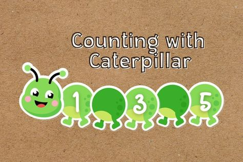 Counting with Caterpillar Educational Worksheets