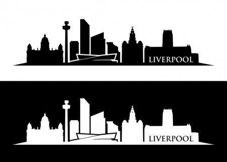 Liverpool Skyline Silhouette Stock Vector Spon Skyline Liverpool Silhouette Vector Ad In 2020 Liverpool Skyline Skyline Silhouette Liverpool