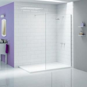 Wet Room Tray Kit 1200 X 800mm Offset Drain Walk In Shower Tray