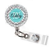 ClassicName Badge ID ReelAdd some color to your work attire with an ID name badge holder reel! Retractable name badge holders are professionally printed from bright clear pictures and covered in mylar so they are easy to clean.Please let me know what you want printed on the badge reel in the