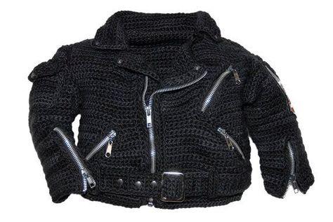 Motorcycle Jacket Crochet Pattern inspired by by pattydavisdesigns 48