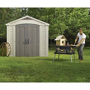 Keter Factor Apex Garden Storage Shed 6 X 6ft Beige Brown