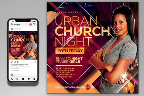 church flyer (1343657) | Flyers | Design Bundles