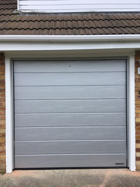 Hormann Single Sectional Garage Door Install By Swr Installations Garage Door Opener Installation Garage Doors Sectional Garage Doors