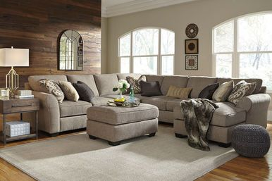 Pantomine 6 Pc Driftwood Left Arm Facing Right Arm Facing Sectional Living Room Furniture City Furniture Sectional Sofa
