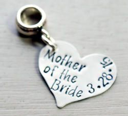 5d862c542 Personalized Mother of the Bride Gift with Date Charm Bead - Pandora  Compatible