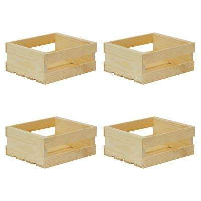 11 75 In X 9 5 In X 4 75 In Small Wood Crate 4 Pack Wood Crates Crates Wood