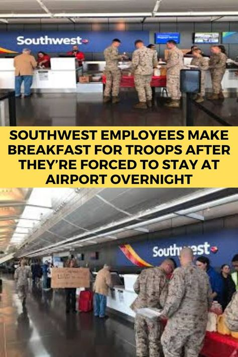 Southwest Employees Make Breakfast For Troops After They're Forced To Stay At Airport Overnight#OMG #WTF #Humor #Gags #Epic #Lol #Memes #Weird #Hot #Bikni #Fails #Fun #Funny #Facts #Hot Girls #Entertainment #Trending #Interesting