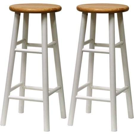 Winsome Wood Tabby 30 Beveled Seat Stools 2 Pc Multiple Finishes