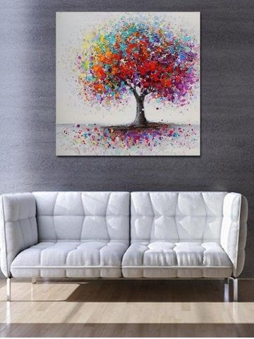 Paint Splatter Tree Print Unframed Canvas Paintings Canvas Prints On Wall Layout Home Decor Ideas Livi Tree Painting Canvas Canvas Painting Diy Canvas Painting