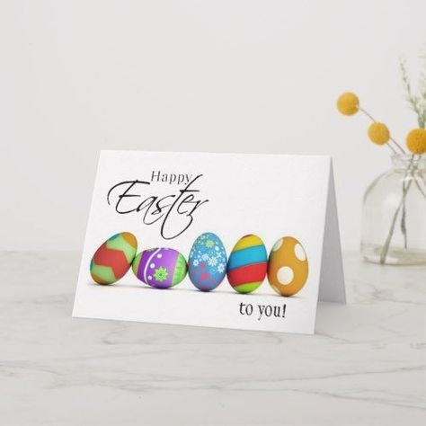 Happy Easter Wishes Card #happy Easter wishes Happy Easter Wishes Card   Zazzle.com