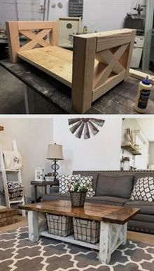Diy Farmhouse Coffee Table Perfect For The Home Living Room