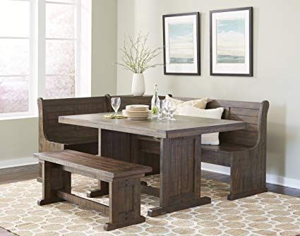 Breakfast Nook Table With Bench Kitchen Corner Bench Dining