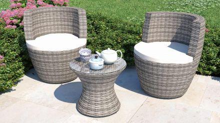 Ticino Gartenmobel Rattan Set Mediterraner Stil Asiatischer Garten
