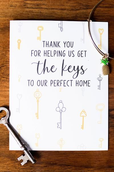 Thank You Card For Realtor Real Estate Agent Sweet Cards Realtor Cards Thank You Greetings