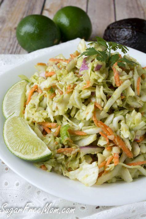 Avocado Coleslaw, vegan, sugar-free