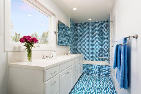 Idee di bagno in blu e bianco bagno bathroom ideas