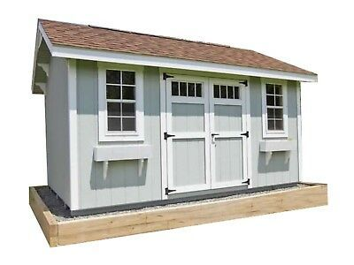 Details About Saltbox Roof Storage Shed Plans Diy Backyard Garden Shed Barn Building 10 X20 In 2020 Storage Building Plans Shed Plans Storage Shed Plans