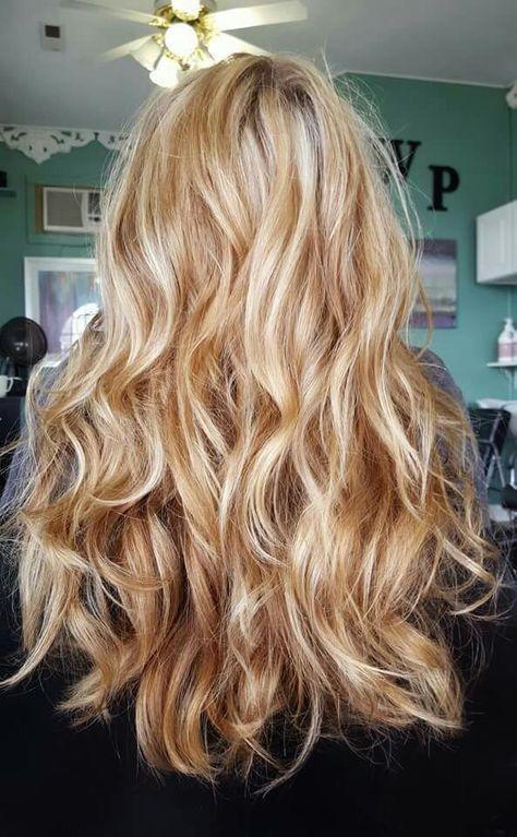 Warm Blonde Balayage Hair Honey Hair