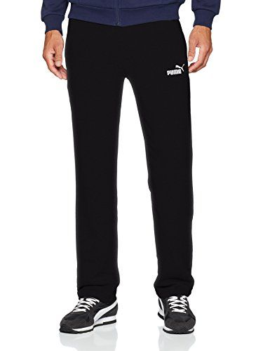 Puma Jogginghose Herren lang mit Reißverschluss am Beinabschluss, Größe:M, Farbe:Schwarz