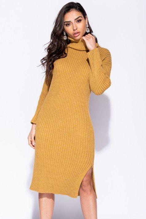 2af83a322c7f Rib Knitwear Turtleneck Jumper Dress thewas.co.uk £32.99   Dresses ...