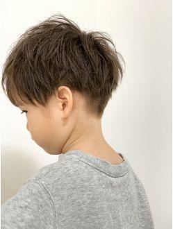 キッズ 前下がり 刈り上げ ショート キッズ髪型 ボーイズヘア