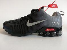 Mens Nike Air Shox KPU Black Wolf Grey Footwear NIKE-NSZ002746 in ... 958ef1732