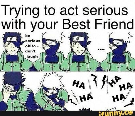 Kakashi And Obito Funny Text Anime Funny Kakashi Funny Naruto Funny Moments