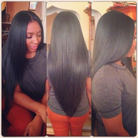 Full Head Weave; Looks Realistic - http://community.blackhairinformation.com/hairstyle-gallery/weaves-extensions/full-head-weave-looks-realistic/