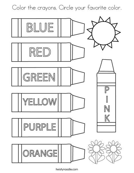Color The Crayons Circle Your Favorite Color Coloring Page Twisty Noodle Coloring Pages Shopkin Coloring Pages Color Activities