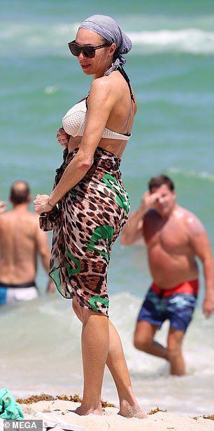 Lilly Becker 42 Loses Bikini Top While Swimming In Miami