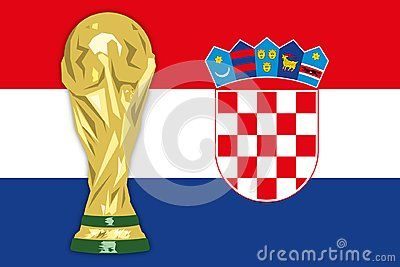 Croatian Flag Finalist Russia 2018 World Cup Of Football Vector Illustration Croatia Flag Croatian Flag Vector Illustration
