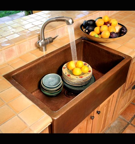 Farmhouse Style Sink Since My House Is A Colonial Style I Want To Make My Kitchen Look More Colonial F Kitchen Sink Remodel Copper Kitchen Sink Kitchen Basin