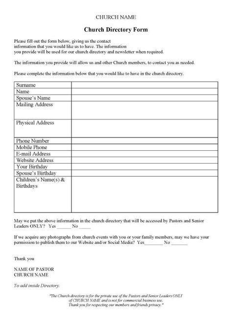 Church Directory Churches - church nursery worker sample resume